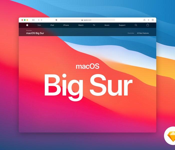 Safari 14 Mockup from macOS Big Sur