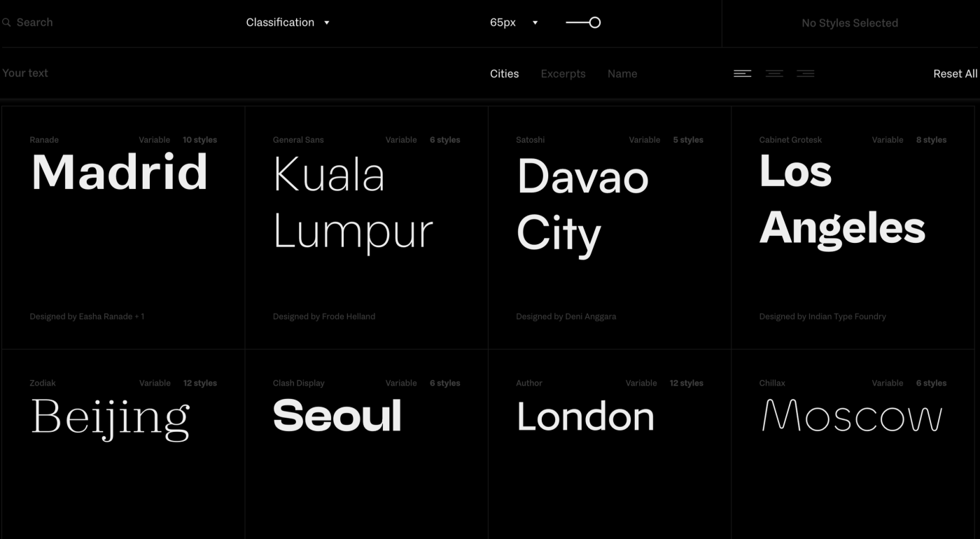 Fontshare: A free font service launched by ITF