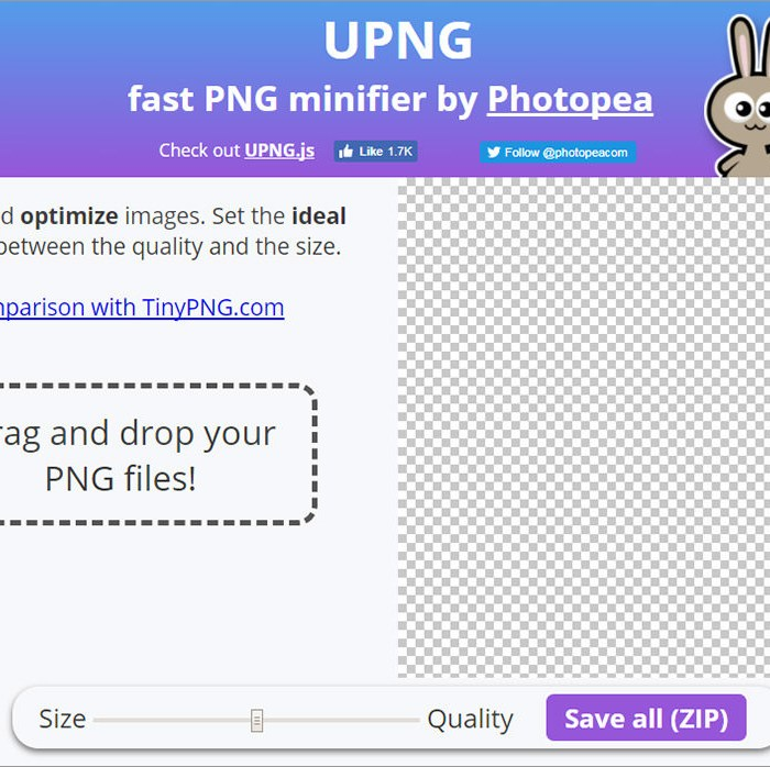 Minify and Compress PNGs Fast With UPNG