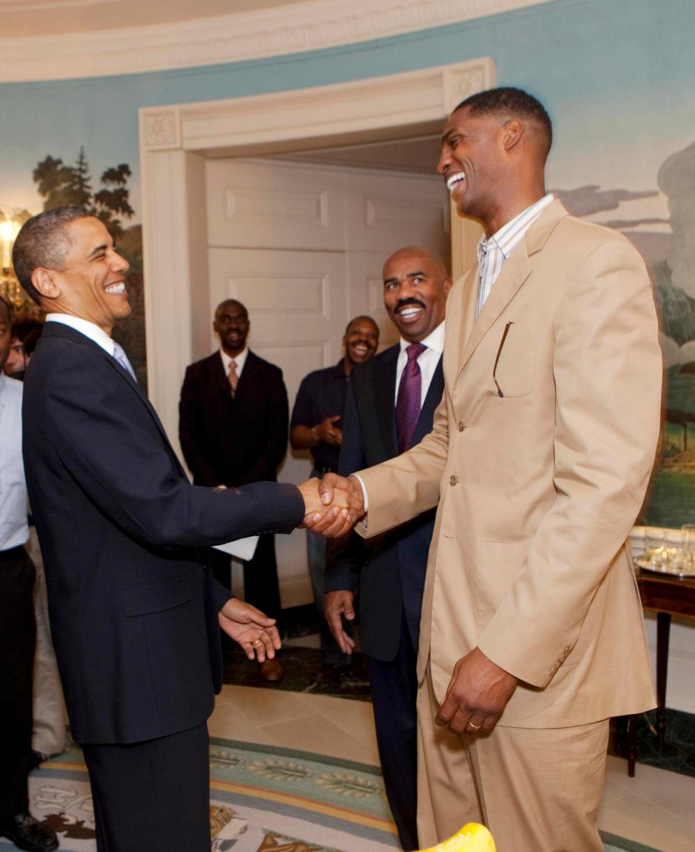 Charles Smith with Obama