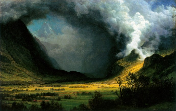 Albert Bierstadt - Storm in the Mountains