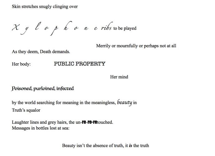 Poem Screen Shot