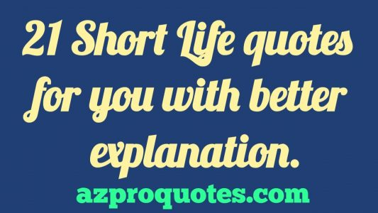 21 Short Life Quotes For You With Better Explanation Positive Quotes