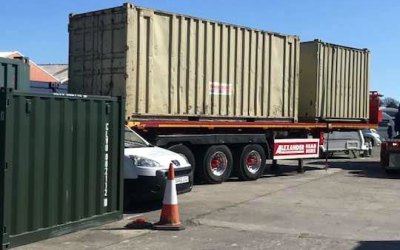 More containers for AZ Self Storage, North Shields