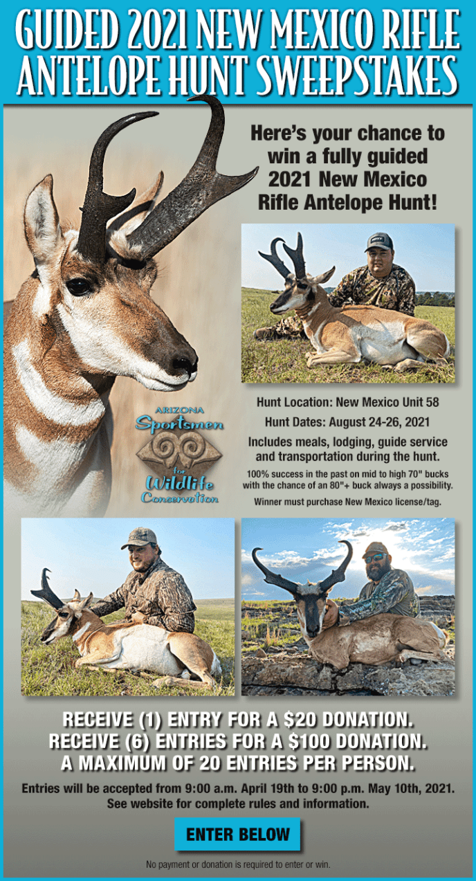 AZSFWC New Mexico Antelope Hunt Sweepstakes
