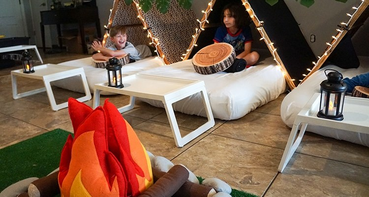 Camouflage or Safari teepee party, glamping party theme, Teepee Party Scottsdale (7)1
