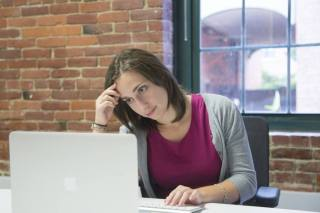 Frustrated potential customer who can't find content because you're not blogging