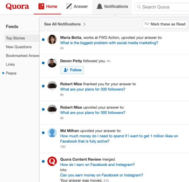 Quora upvoted answers