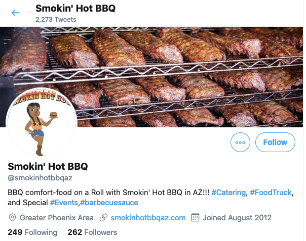 Smokin' Hot BBQ on Twitter
