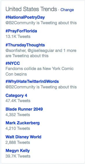 How to take advantage of what's trending on social media for exposure