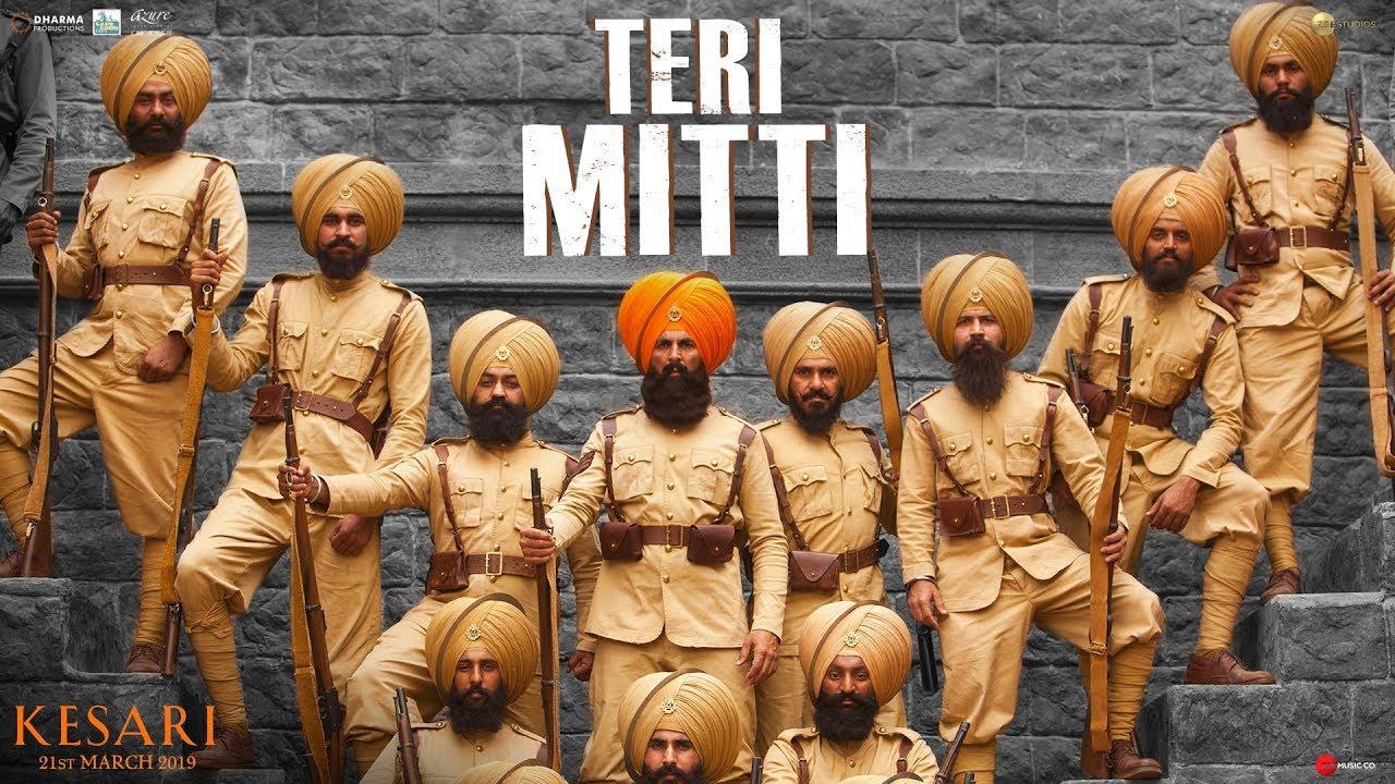 Teri Mitti song lyrics in Hindi and Teri Mitti song lyrics in English by B Praak from Kesari 2019. O Mai meri lyrics, Talwaaron pe sar waar diye lyrics