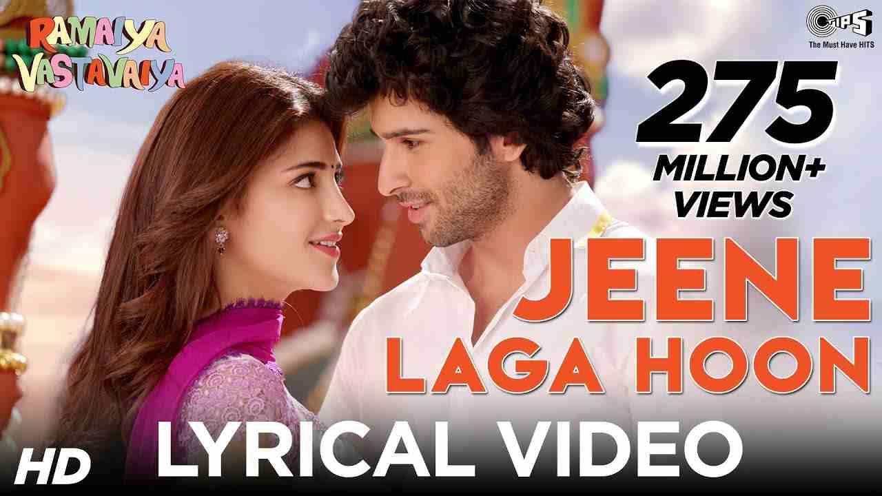 Jeene Laga Hoon Lyrics in Hindi and English - Atif Aslam, Shreya Ghoshal, Ramaiya Vastavaiya (2013)