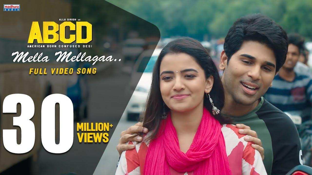 Mella Mellaga Lyrics in Telugu and English - Sid Sriram, Aditi Bhavaraju, ABCD (2019)