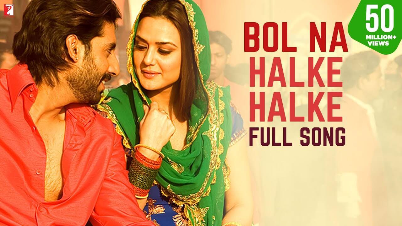 बोल ना हल्के हल्के Bol Na Halke Halke Lyrics in Hindi and English - Jhoom Barabar Jhoom (2007), Rahat Fateh Ali Khan