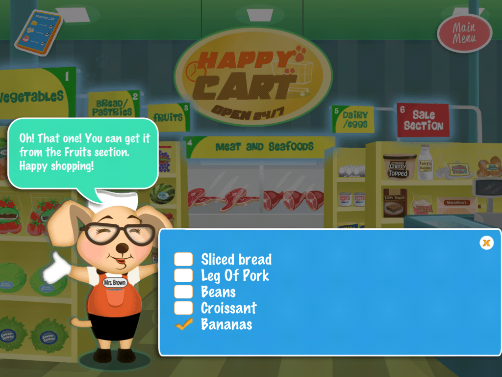 Practicing Life Skills With Apps The Shopping Cart Game