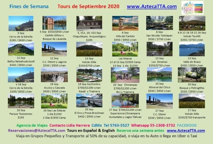 Calendario Septiembre Aztec Explorers