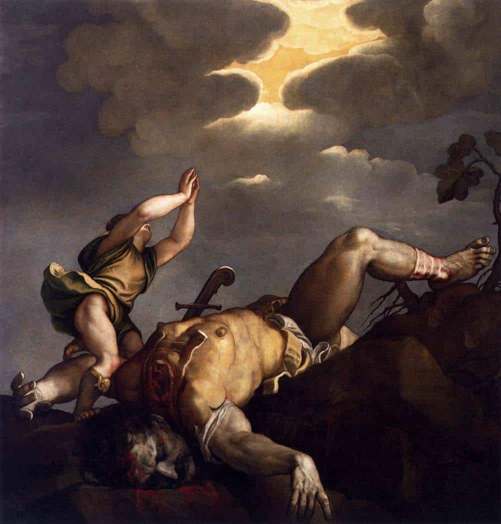 David & Goliath by Titian