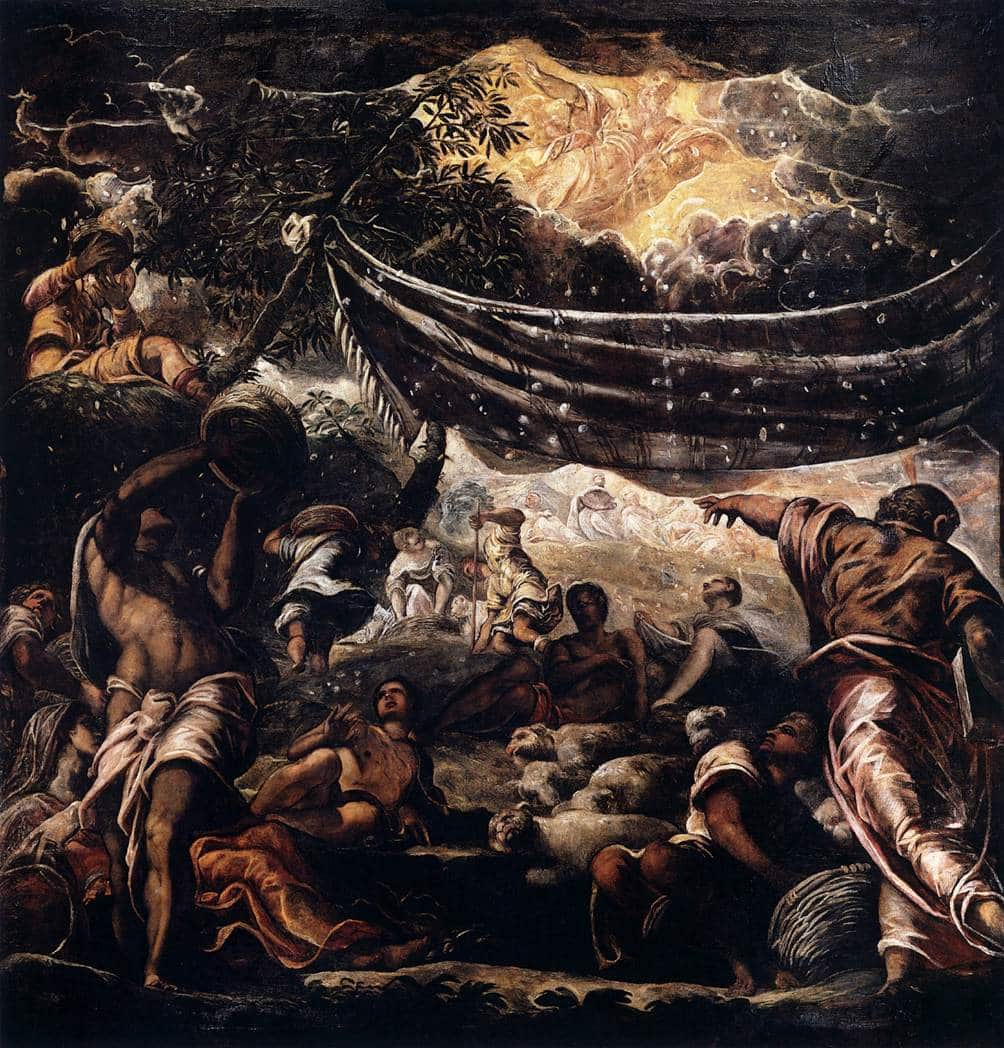 The Miracle of Manna by TINTORETTO