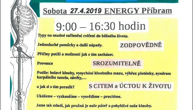 Kurz pružná páteř a zdravé klouby 27.4.2019 v Příbrami