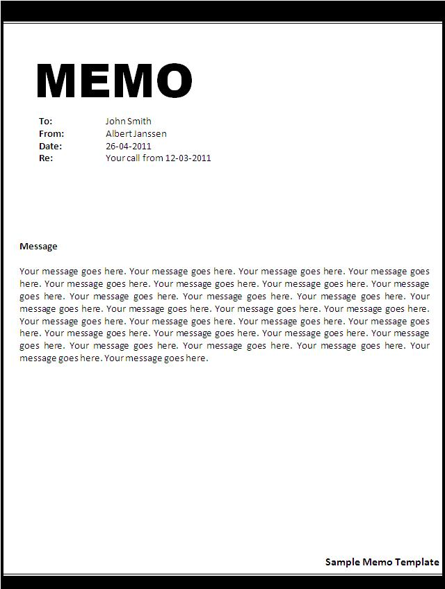 memo template free printable sample ms word templates resume forms