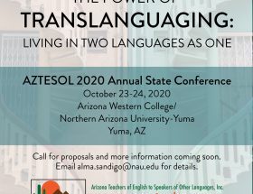 AZTESOL 2020 State Conference Save the Date Flyer