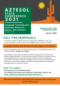 Call for Proposals 2021 State Conference