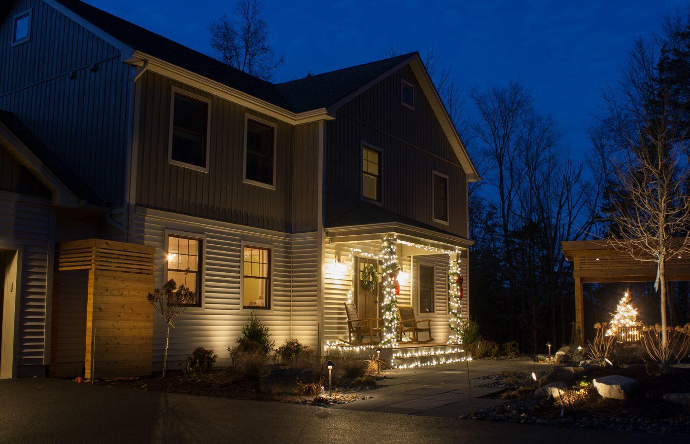 Landscape with low voltage lighting for this New Paltz NY