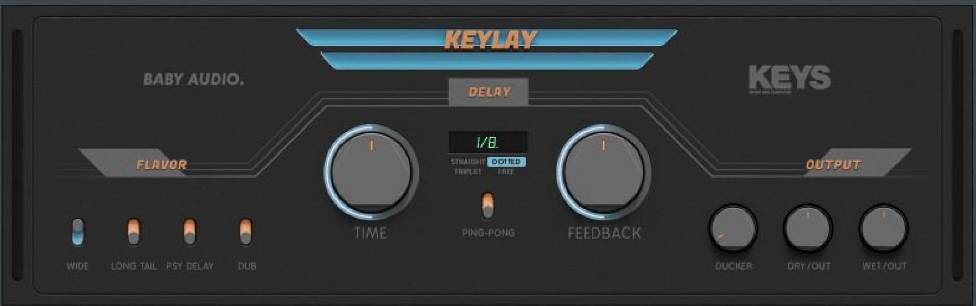 【無料】さまざまなモードを備えたディレイプラグイン「Keylay」が無償配布中