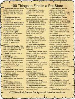 100 Things to Find in a Pet Store