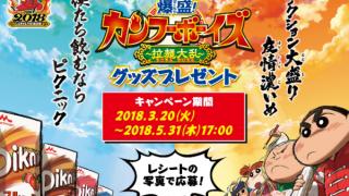 【終了】2018/5/31森永乳業×クレヨンしんちゃん 映画オリジナルグッズプレゼント