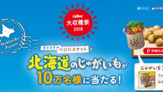 【終了】2018/12/8カルビー大収穫祭2018 オリジナルベジバスケットと北海道のじゃがいもが10万名様に当たる!