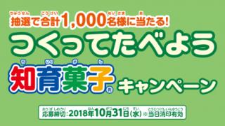 2018/10/31クラシエフーズ つくってたべよう知育菓子キャンペーン