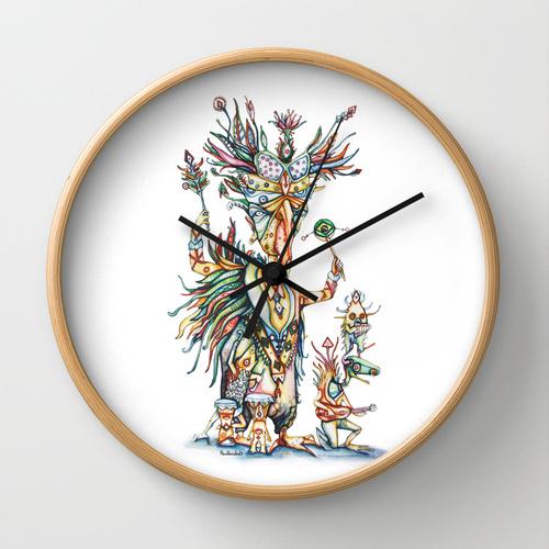order from here : https://society6.com/azuldecobalt/wall-clocks
