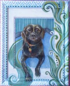 Kayla, Acrylic on Paper & Frame