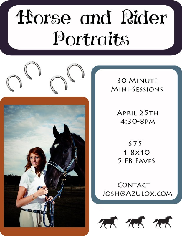Horse and Rider Portraits – April 25th – Ramaker Stables