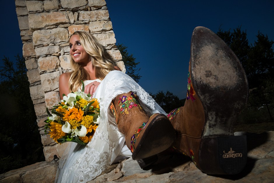 Stephanie: Camp Lucy Bridal Portraits in Dripping Springs