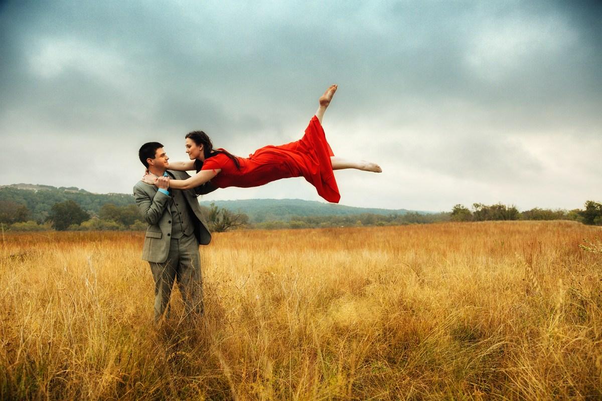 Madison & Tom's Engagement Session in Austin - austin wedding photographers - ladder - epic engagement shoot -