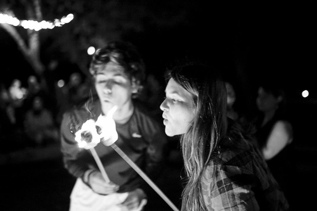 Smores at a Camp Fire - Waco DIY Wedding - Temple Camp Wedding - Hallie and Jonathan - Green Family Camp - Blue Bonnet Wedding