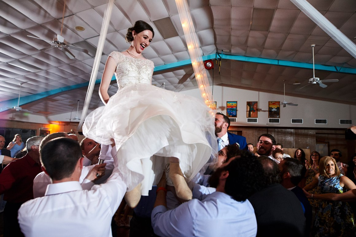 The Hora - Jewish Chair Dance - Waco DIY Wedding - Temple Camp Wedding - Hallie and Jonathan - Green Family Camp - Outdoor Wedding