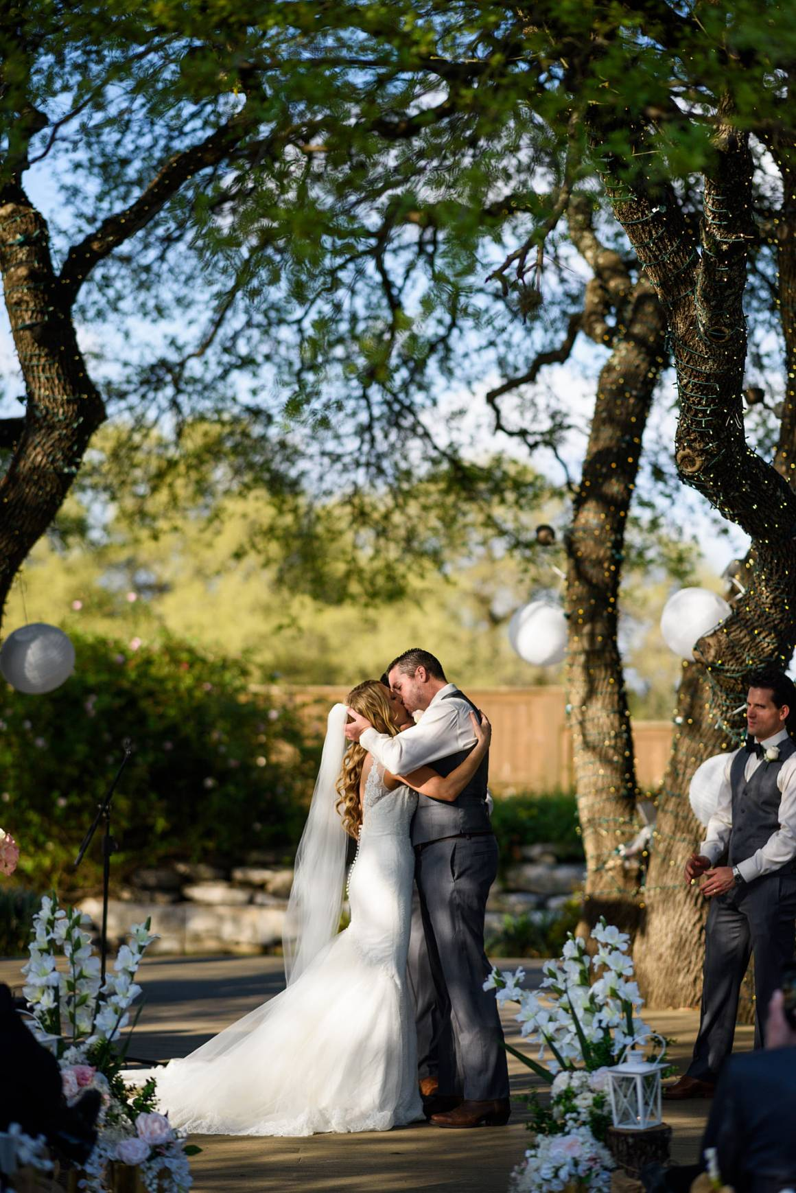 Antebellum Oaks Wedding - Austin Wedding Photographer - Jacob and Katie - hill country wedding, you may kiss the bride -