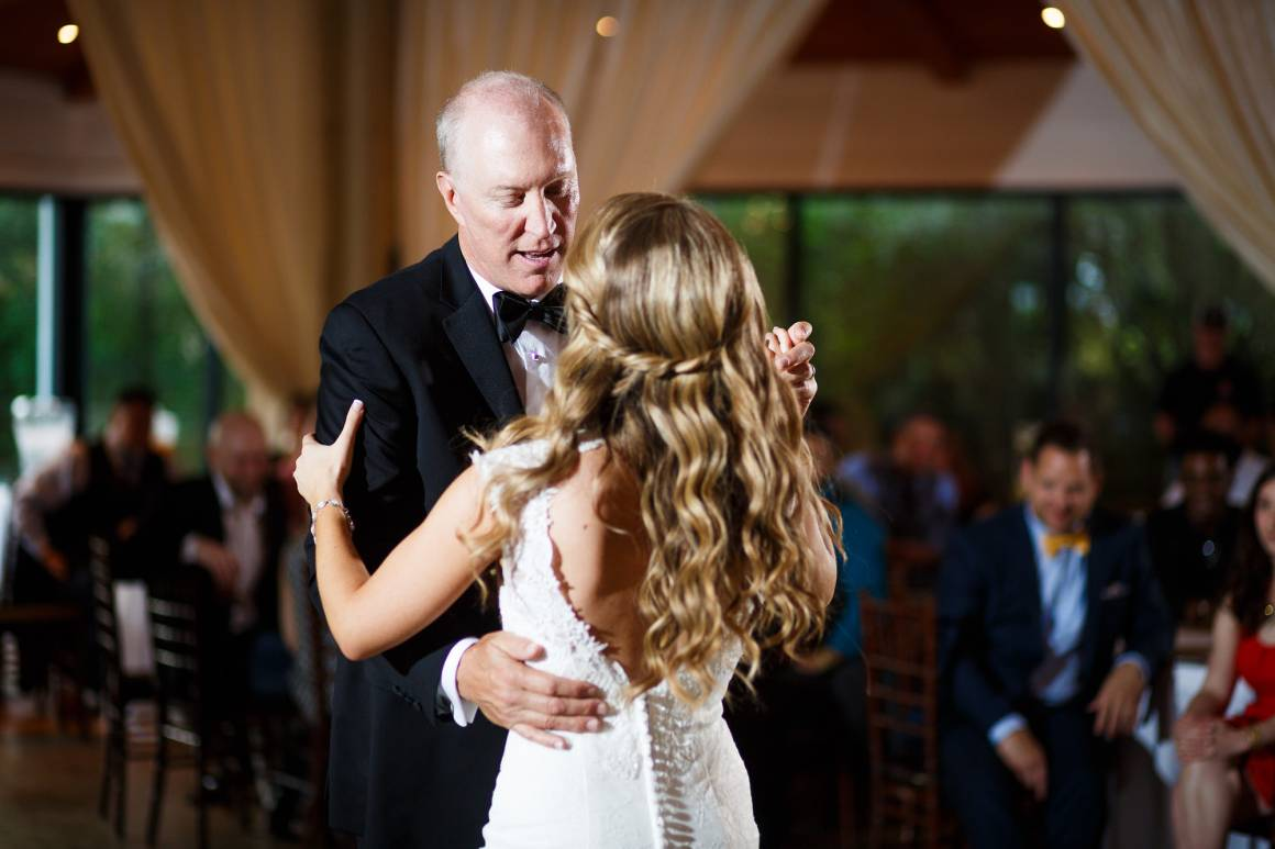 Antebellum Oaks Wedding - Austin Wedding Photographer - Jacob and Katie - hill country wedding - father daughter dance - wedding reception - dancing -