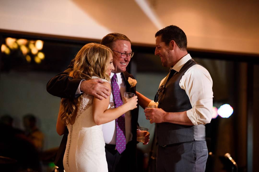 Antebellum Oaks Wedding - Austin Wedding Photographer - Jacob and Katie - hill country wedding - wedding toast - bride and groom making toast - wedding reception