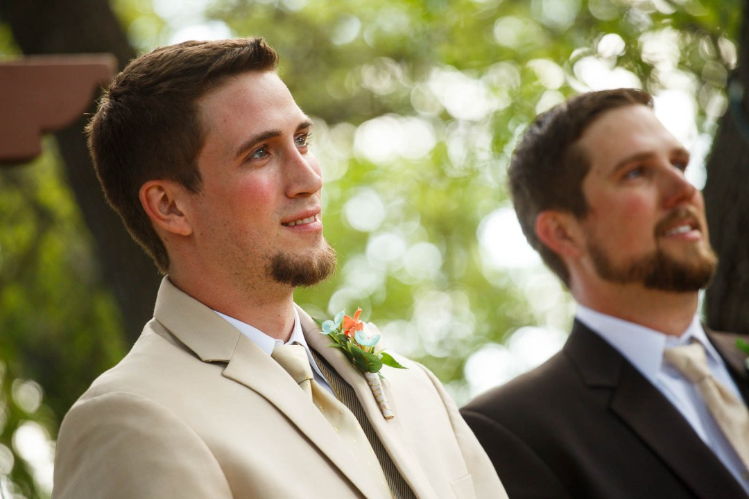Canyon Lake Wedding - Country Wedding - Classic Car Wedding - New Braunfels Wedding - Groom First Look - Shay and Jason