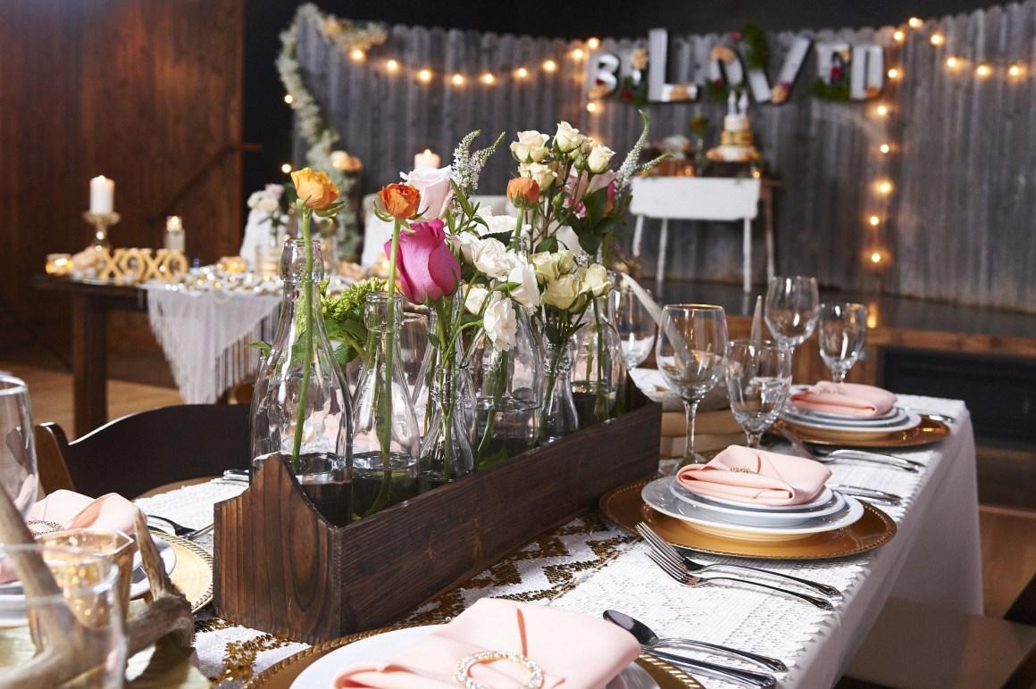 Elegant Rustic Wedding Place Settings - BeLoved High Fashion Country Wedding - Styled Shoot - Terrace at Salado - Austin Wedding Photographer