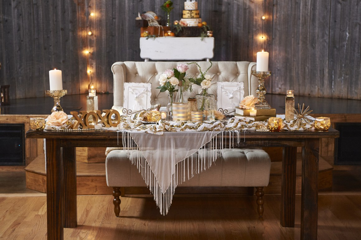 Head Table Love Seat - Elegant Rustic Wedding Place Settings - BeLoved High Fashion Country Wedding - Styled Shoot - Terrace at Salado - Austin Wedding Photographer