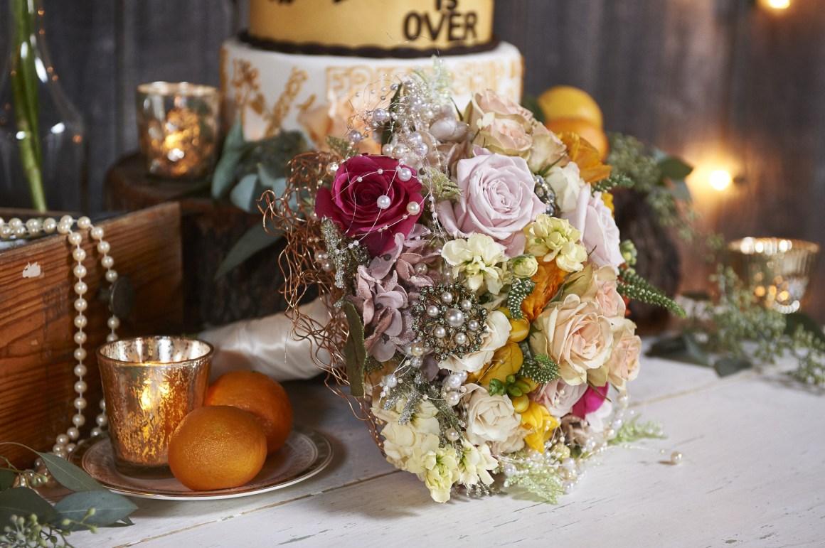 Elegant Rustic Bridal Bouquet - Rustic Wedding - BeLoved High Fashion Country Wedding - Austin Wedding Photography