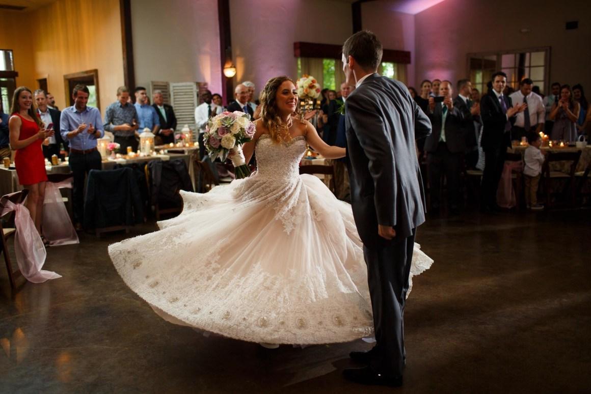 Hill Country Wedding - Pecan Springs Ranch Wedding - First Dance - Wedding Reception - dancing - Austin Wedding Photographer - Matt and Allison