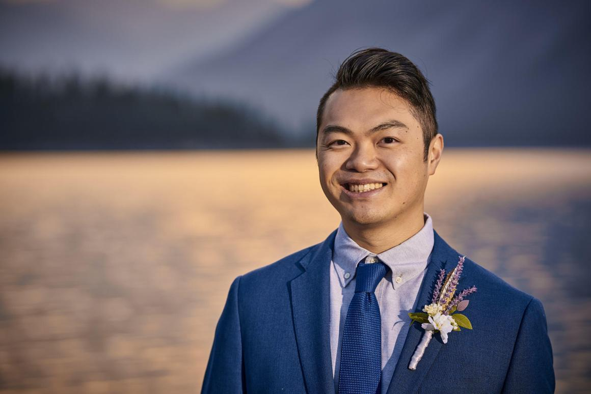 Emily and Jasper Destination Wedding, Banff National Park Wedding - Sunrise Wedding Photos, Lake Minnewanka