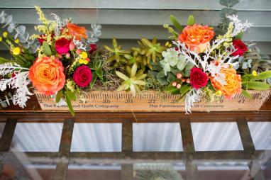 Flower Table Decorations at TerrAdorna Wedding in Austin, Tx