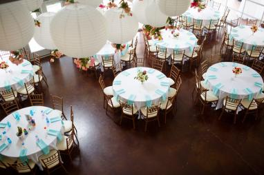 Reception room setup at TerrAdorna in Austin, Tx